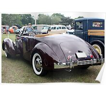 1936 Cord 810 Rear View Poster