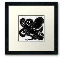 Inktopus - Sumi Octopus Framed Print