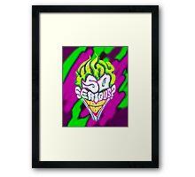 Batman - Joker Why So Serious Framed Print