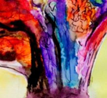 Watercolor Brain Scan Sticker