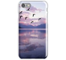 Geese Over Glacier Lake iPhone Case/Skin