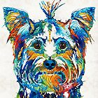Colorful Yorkie Dog Art - Yorkshire Terrier - By Sharon Cummings by Sharon Cummings