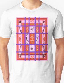 Curvy Plaid Abstract Feminine Folk Art by Kristie Hubler T-Shirt