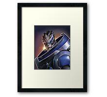 Mass Effect - Garrus Vakarian Portrait Framed Print