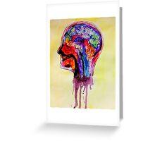 Watercolor Brain Scan Greeting Card