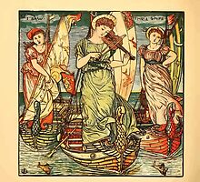 Walter Crane's Painting Book 1889 40 - I Saw Three Ships Color by wetdryvac