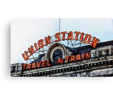 Union Station - Travel by Train Canvas Print