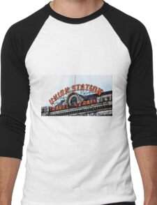 Union Station - Travel by Train Men's Baseball ¾ T-Shirt
