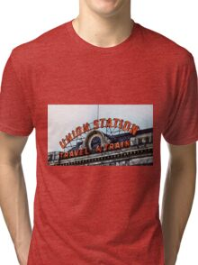 Union Station - Travel by Train Tri-blend T-Shirt