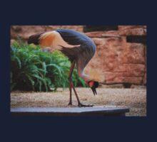Black Crowned Crane Kids Tee