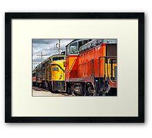 Vintage Locomotives Framed Print