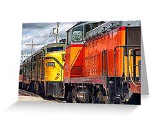 Vintage Locomotives Greeting Card
