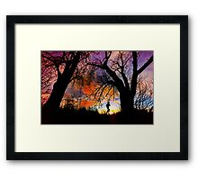 Connie's Sunrise Run Framed Print