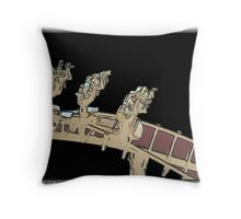 The Rollercoaster in Space Throw Pillow