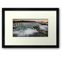 Seaward Kaikoura Ranges in Pink Framed Print