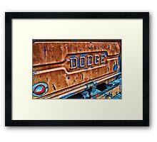 Vintage Dodge Framed Print