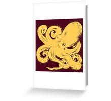 Inktopus 2 - Sumi Octopus Greeting Card