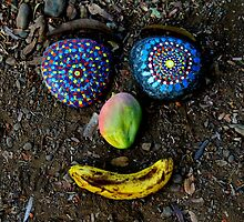 Happy Rock Face - Jungle Rock Art in Costa Rica by charevans