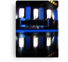 Black and Blue Bar Canvas Print