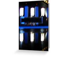 Black and Blue Bar Greeting Card