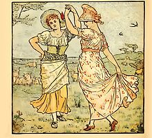 Walter Crane's Painting Book 1889 8 - Dance Color by wetdryvac