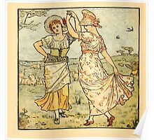 Walter Crane's Painting Book 1889 8 - Dance Color Poster