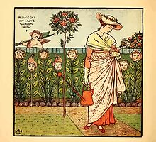 Walter Crane's Painting Book 1889 44 - How Does My Lady's Garden Grow Color by wetdryvac