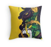 Mary Anoints Throw Pillow