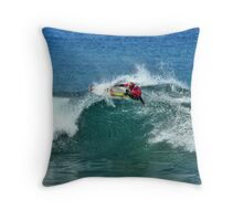 Mick Fanning in 2009 Rip Curl Pro at Bells Beach Throw Pillow