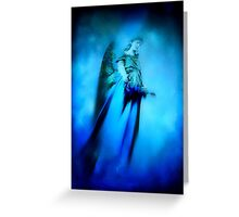 Blue Guardian Angel  Greeting Card