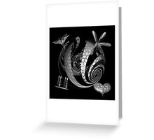 Silver Texture Greeting Card