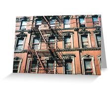 New York Tenement  Greeting Card