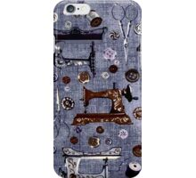 Vintage Sewing Machines Seamstress Pattern iPhone Case/Skin