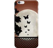 Flutter by moon sihouette iPhone Case/Skin