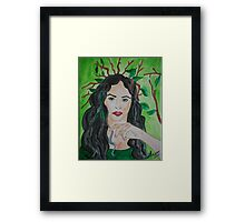 The Goddess of the Forest Framed Print