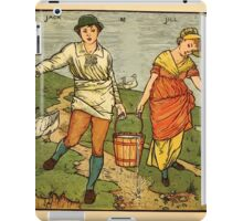 Walter Crane's Painting Book 1889 33 - Jack and Jill Color iPad Case/Skin