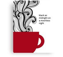 Twin Peaks - Coffe - Black as Midnight Canvas Print
