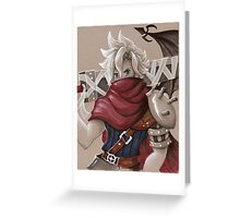 Toned Paper Cloud Strife Greeting Card