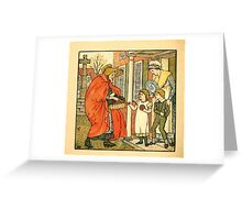 Walter Crane's Painting Book 1889 28 - Hot Cross Buns Color Greeting Card