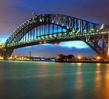 """ Bathed In Colour ..  The Sydney Harbour Bridge "" by Darren Gray"