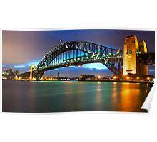 """"""" Bathed In Colour ..  The Sydney Harbour Bridge """" Poster"""