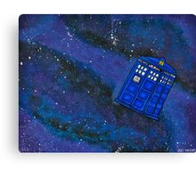 Police Box in Space Canvas Print