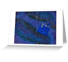 Police Box in Space Greeting Card