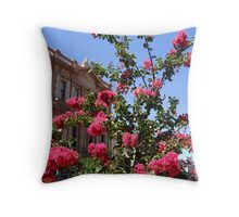it rose from the cities streets Throw Pillow