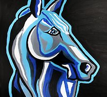 Until I See You Again - Abstract Horse Art by Valentina Miletic by Valentina Miletic