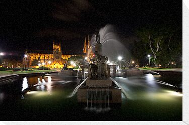 Archibald Fountain Hyde Park Sydney NSW by MiImages