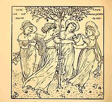 Walter Crane's Painting Book 1889 52 - Here We Go Round The Mulberry Bush Lines by wetdryvac
