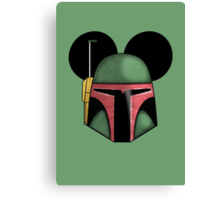 Boba Fett - Mickey Mouse Ears  Canvas Print