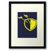 Clash of Clans Minimalist Shield Logo Framed Print