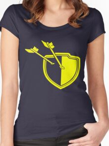 Clash of Clans Minimalist Shield Logo Women's Fitted Scoop T-Shirt